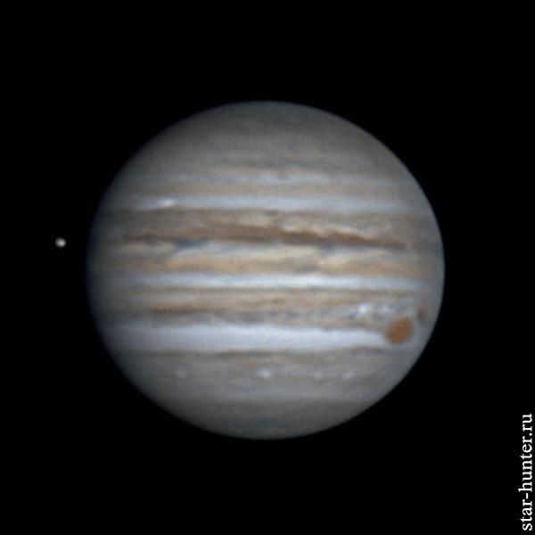 Ио и Юпитер, 17 сентября 2020 года, 21:02 Юпитер, Ио, Астрофото, Астрономия, Космос, Планета, Starhunter, Анапа, Анападвор, Гифка