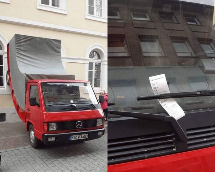 Выписали штраф за парковку произведению искусства