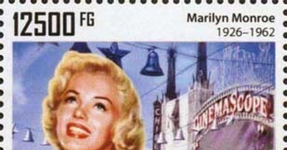 """ММ на почтовых марках (XXIX) Цикл """"Великолепная Мэрилин"""" - серия 248"""