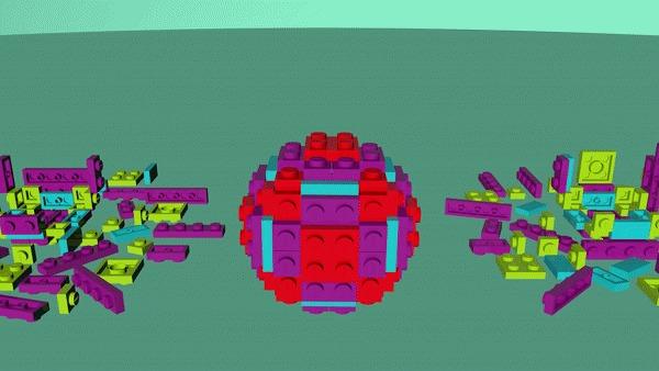 Продолжаю трудиться над LEGO-роликом LEGO, Motion design, 3D, Cinema 4d, Дизайн, Гифка