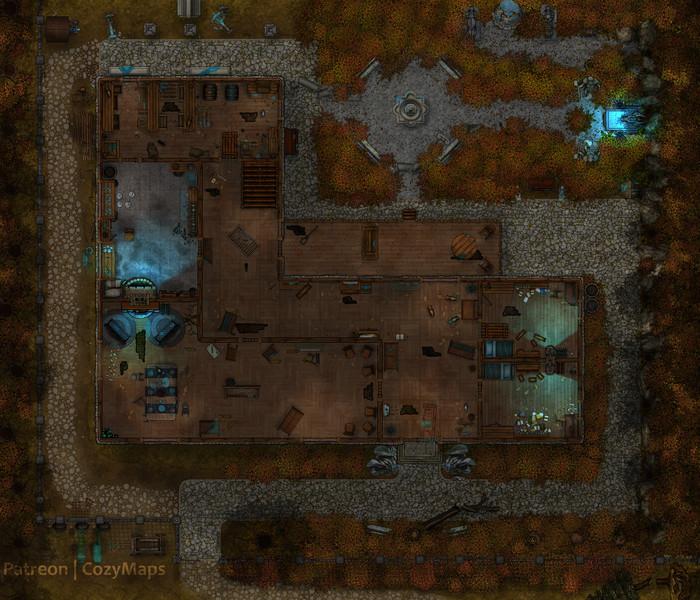 Карта для Dungeons and Dragons - Особняк призраков 35x30