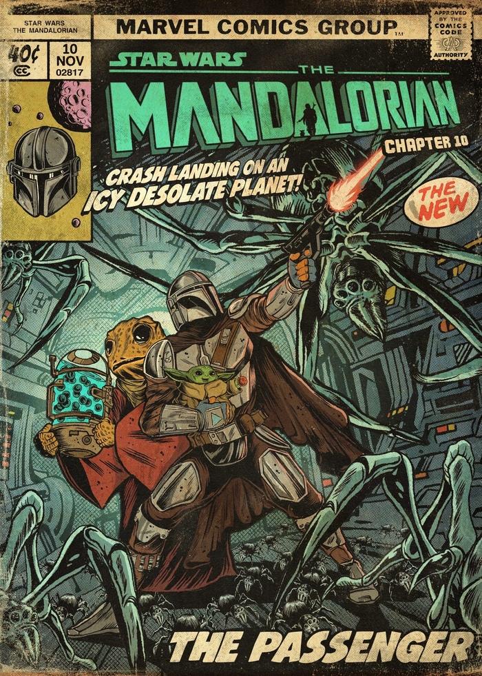 """Сериал """"Мандалорец"""" в стиле старых комиксов Marvel"""