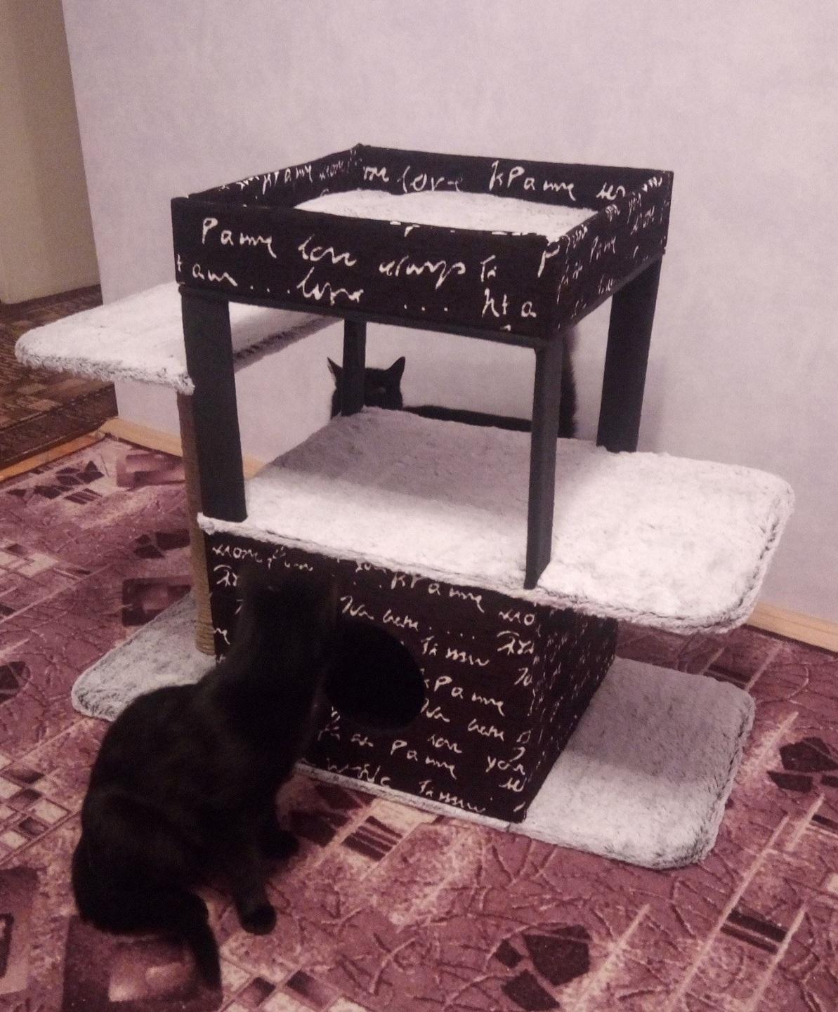 Чертеж дом для кошки своими руками фото 282