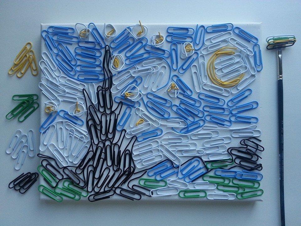 Картинки по запросу «Звездная ночь» из скрепок