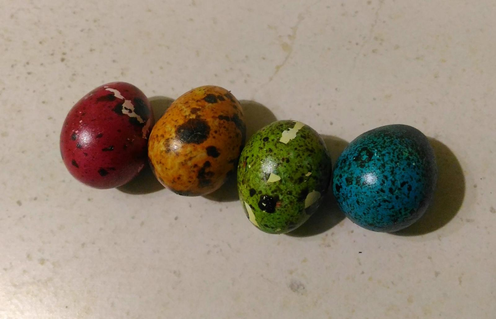 Перепелиные пасхальные яйца
