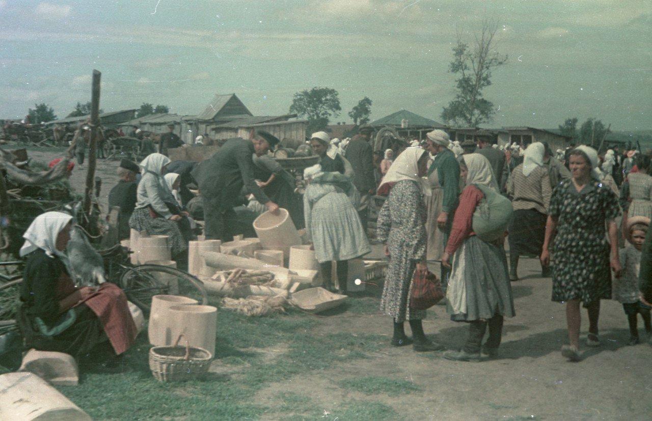 Рынок в Краснослободске, 1952 г.