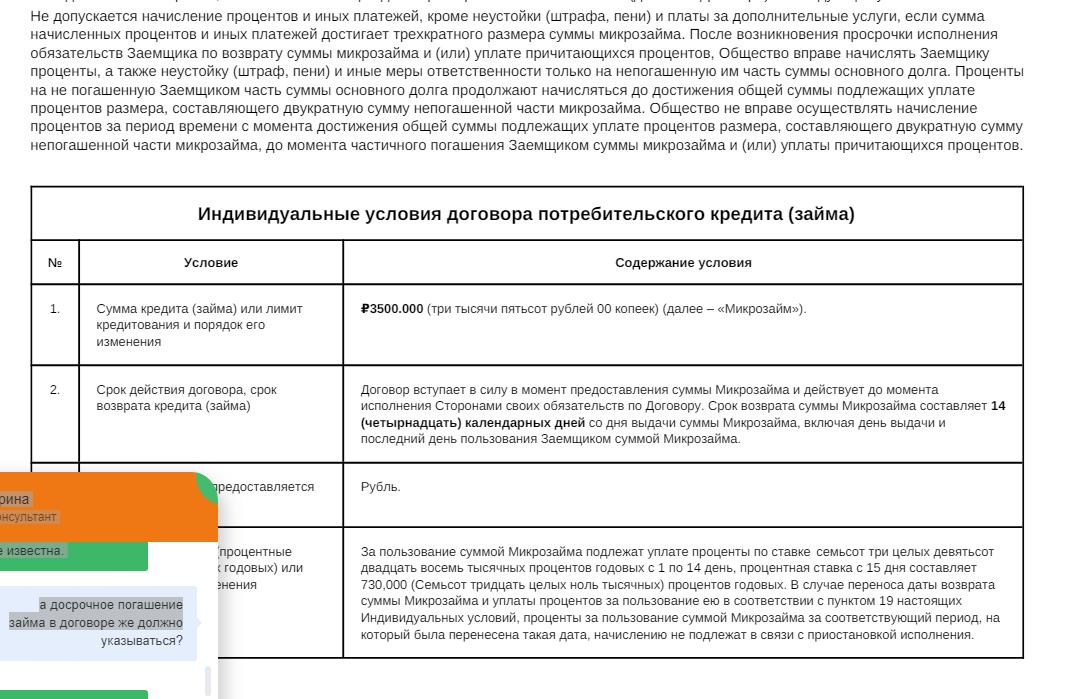 кредитный займ помощьзайм 400000 рублей