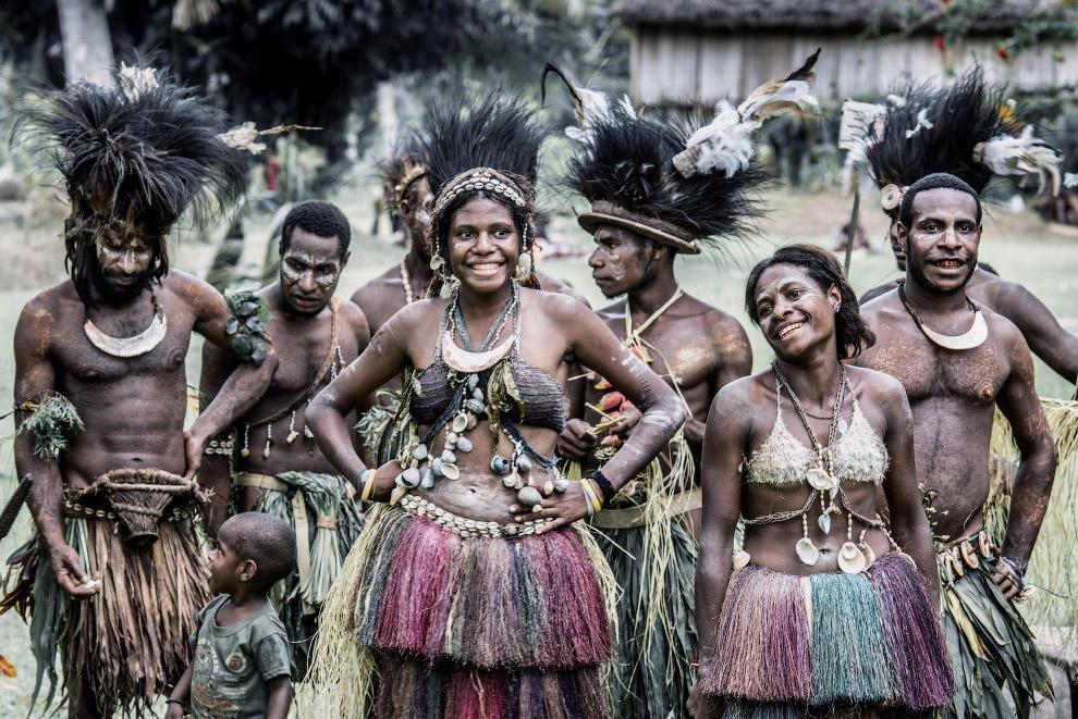 Колоритные папуасы из Папуа-Новой Гвинеи | Пикабу