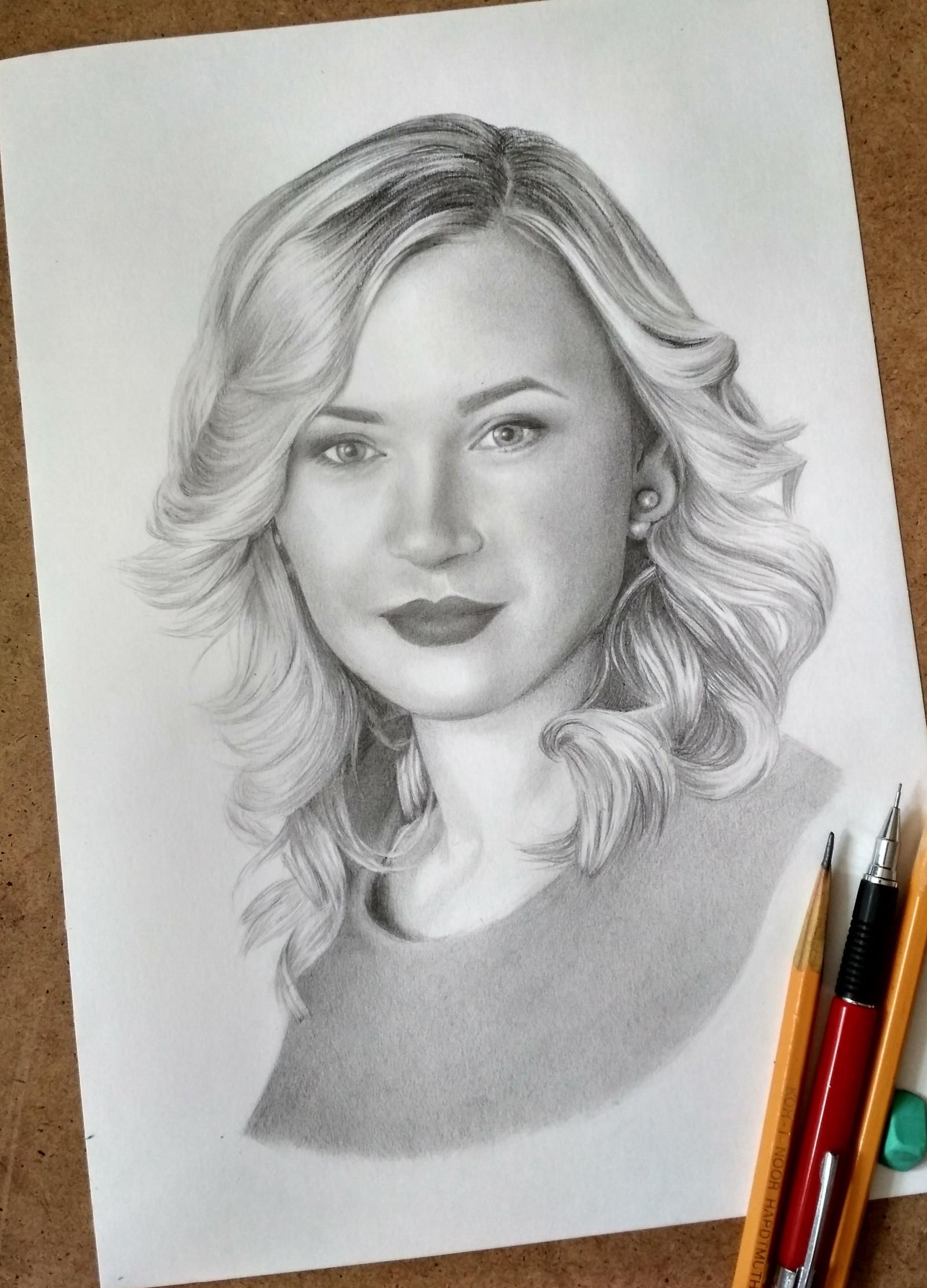 Красивые картинки рисунки карандашом девушек