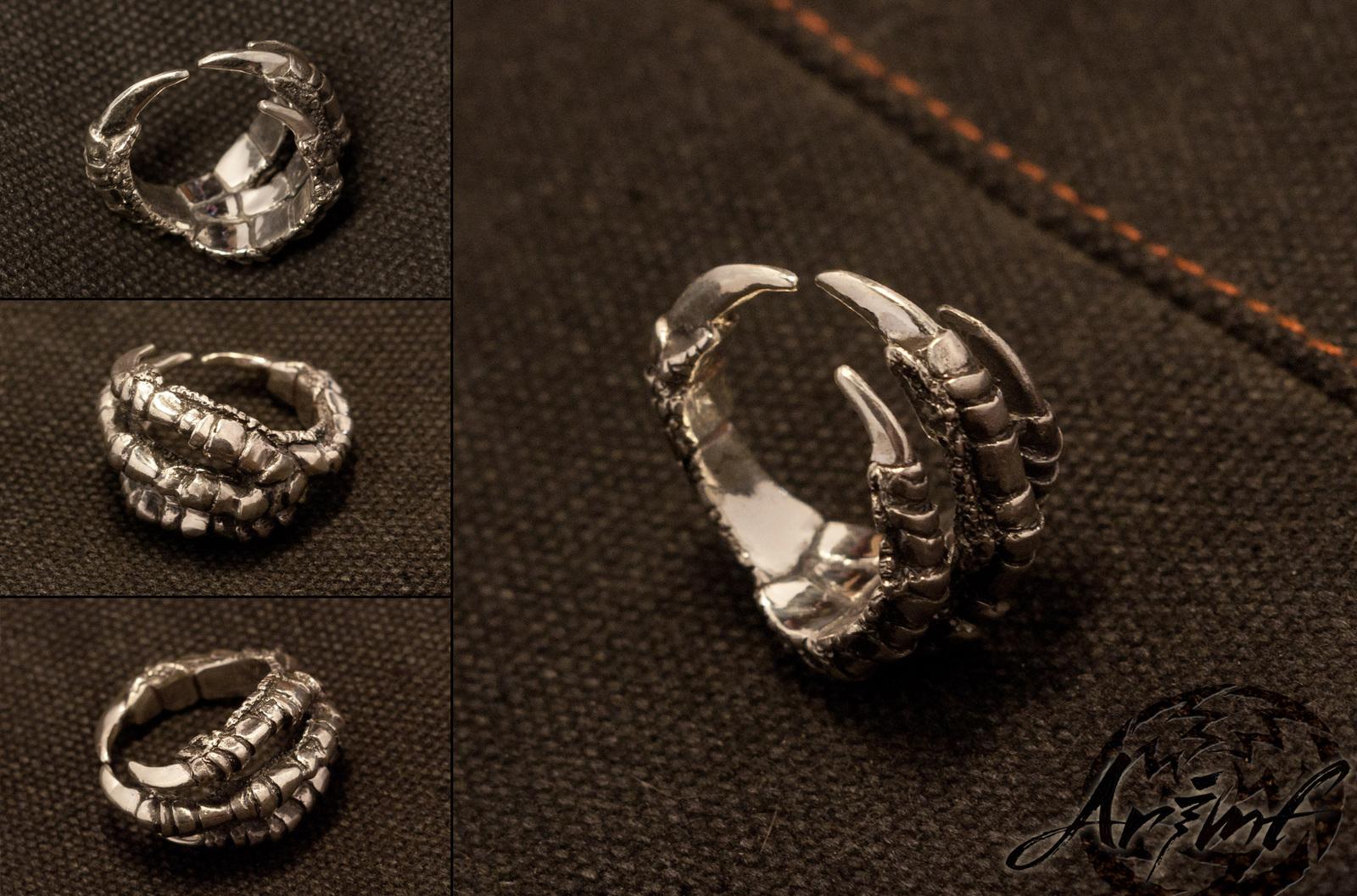 Как сделать кольцо из вороньей лапы украшение