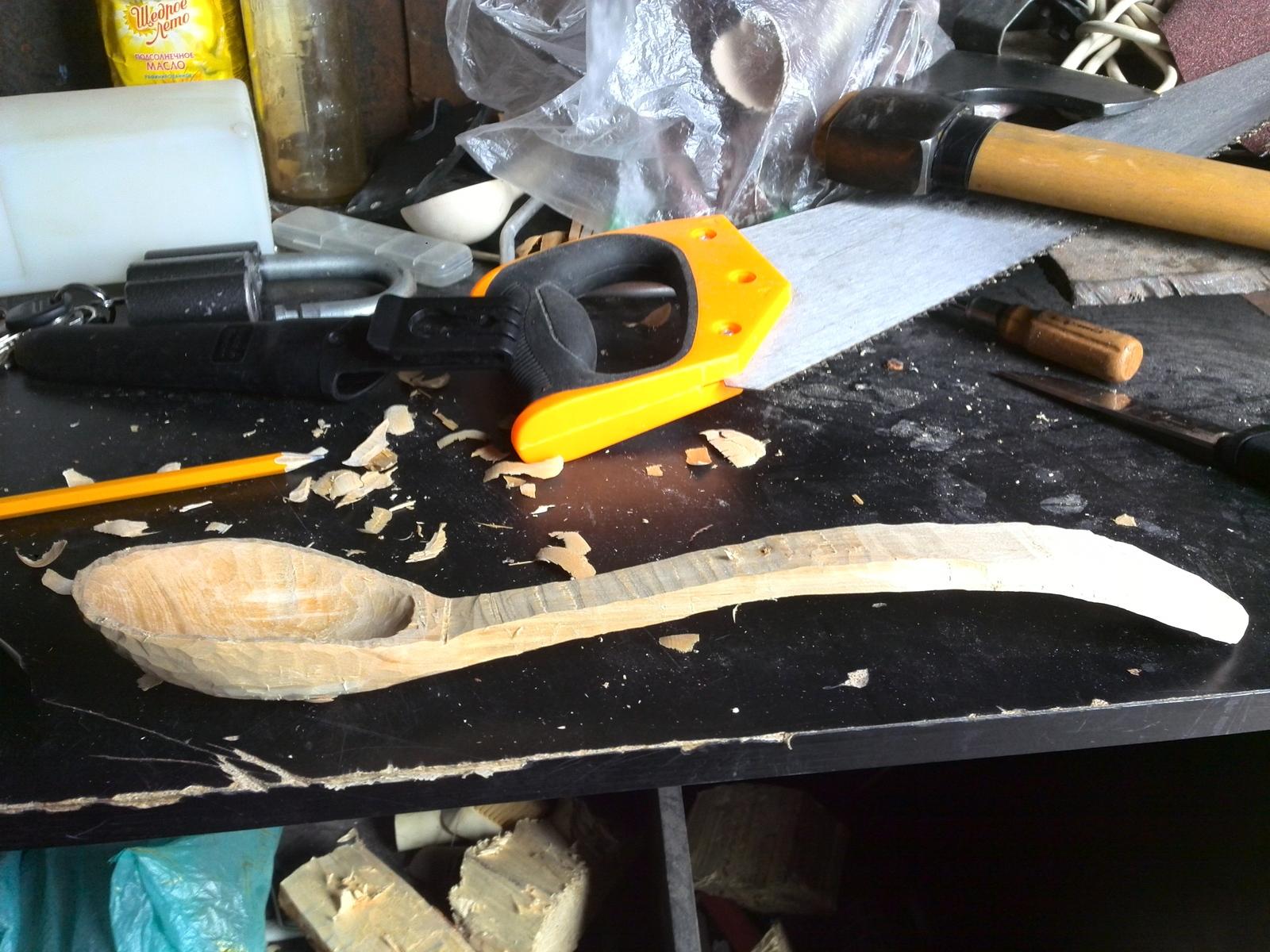 Как вырезать ложку из березы мастерская