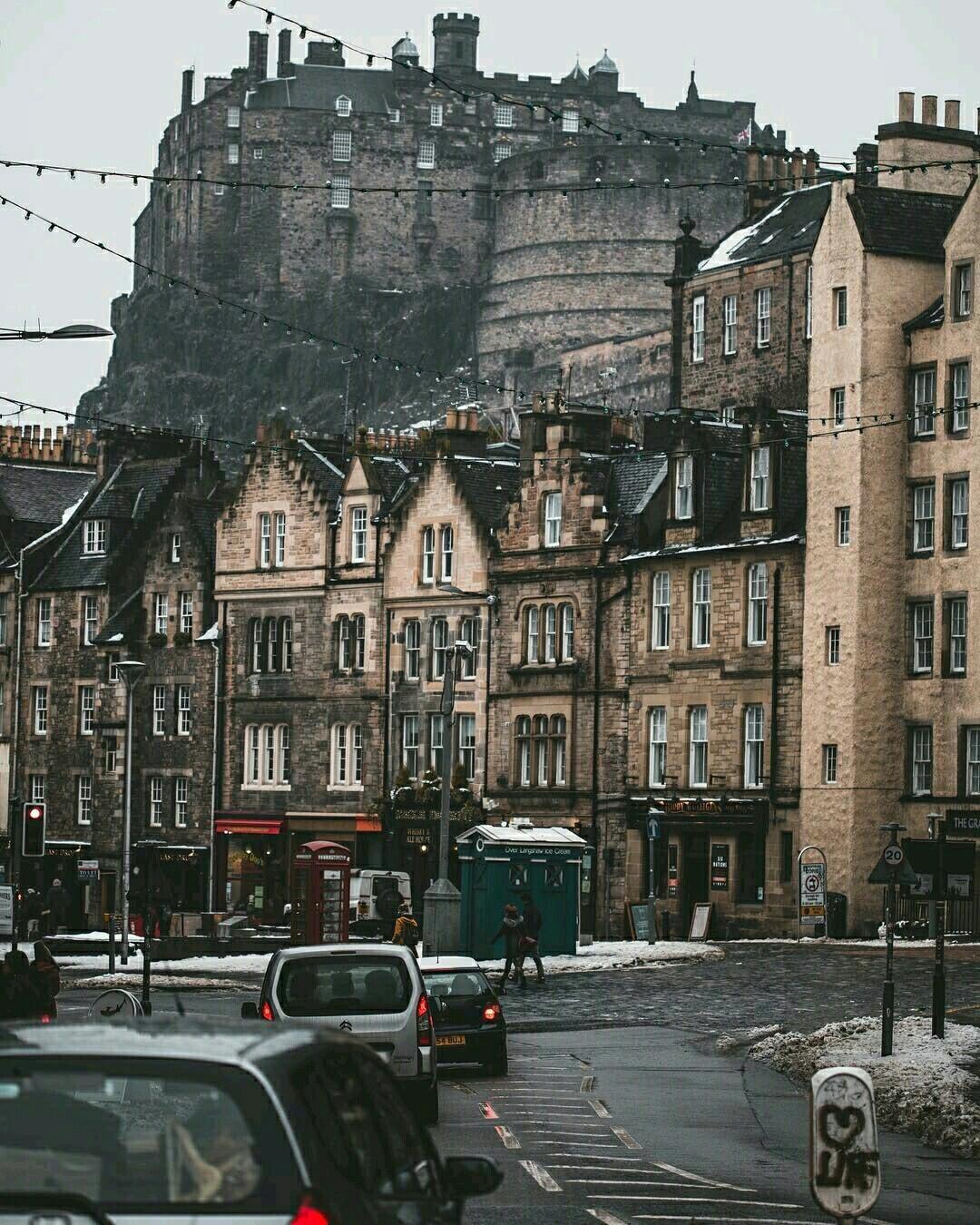 Обои Облака, эдинбург, Шотландия, свет, дома. Города foto 19