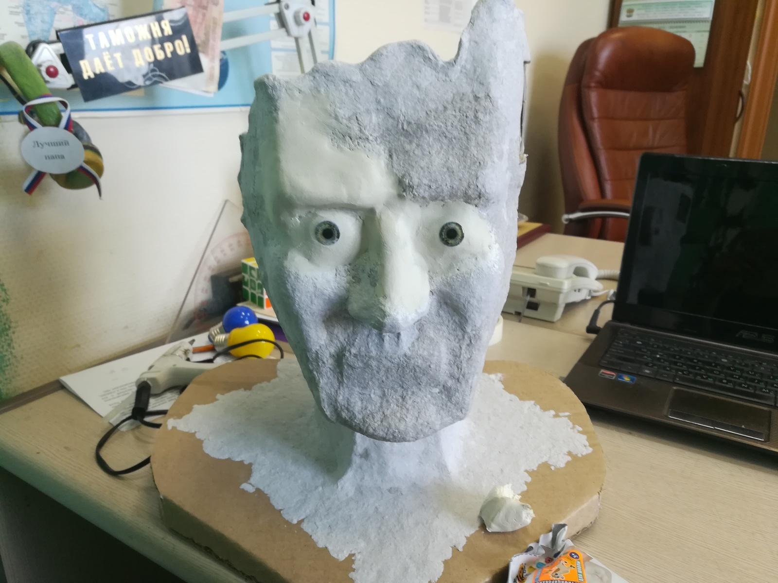 Голова человека из папье-маше своими руками