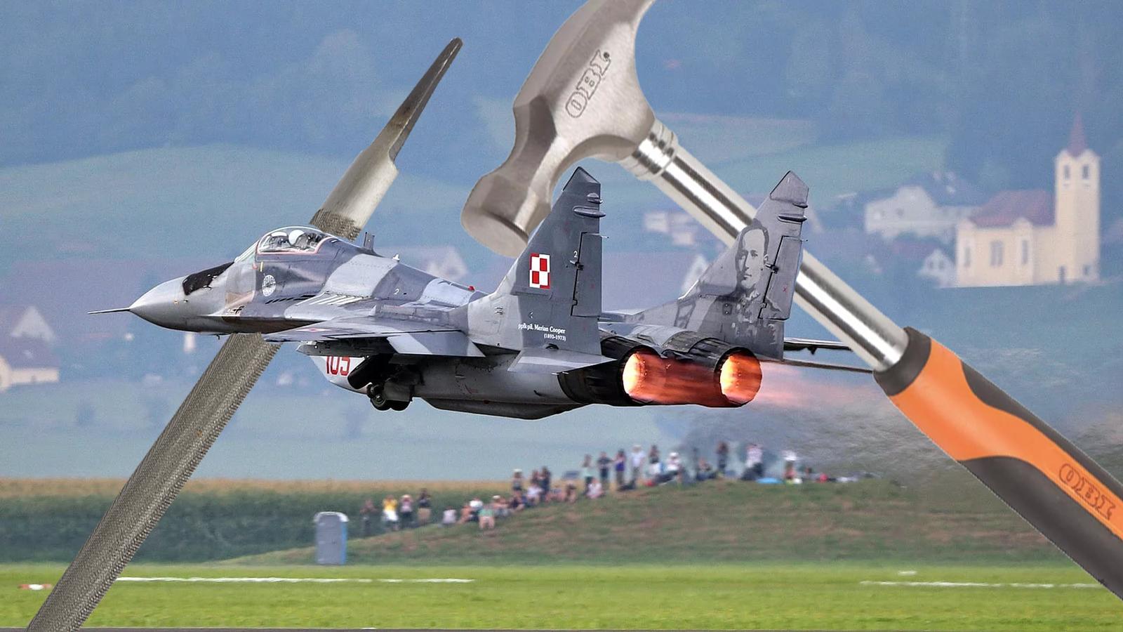 Обои МиГ-29М, ВВС Польши, многофункциональный истребитель. Авиация