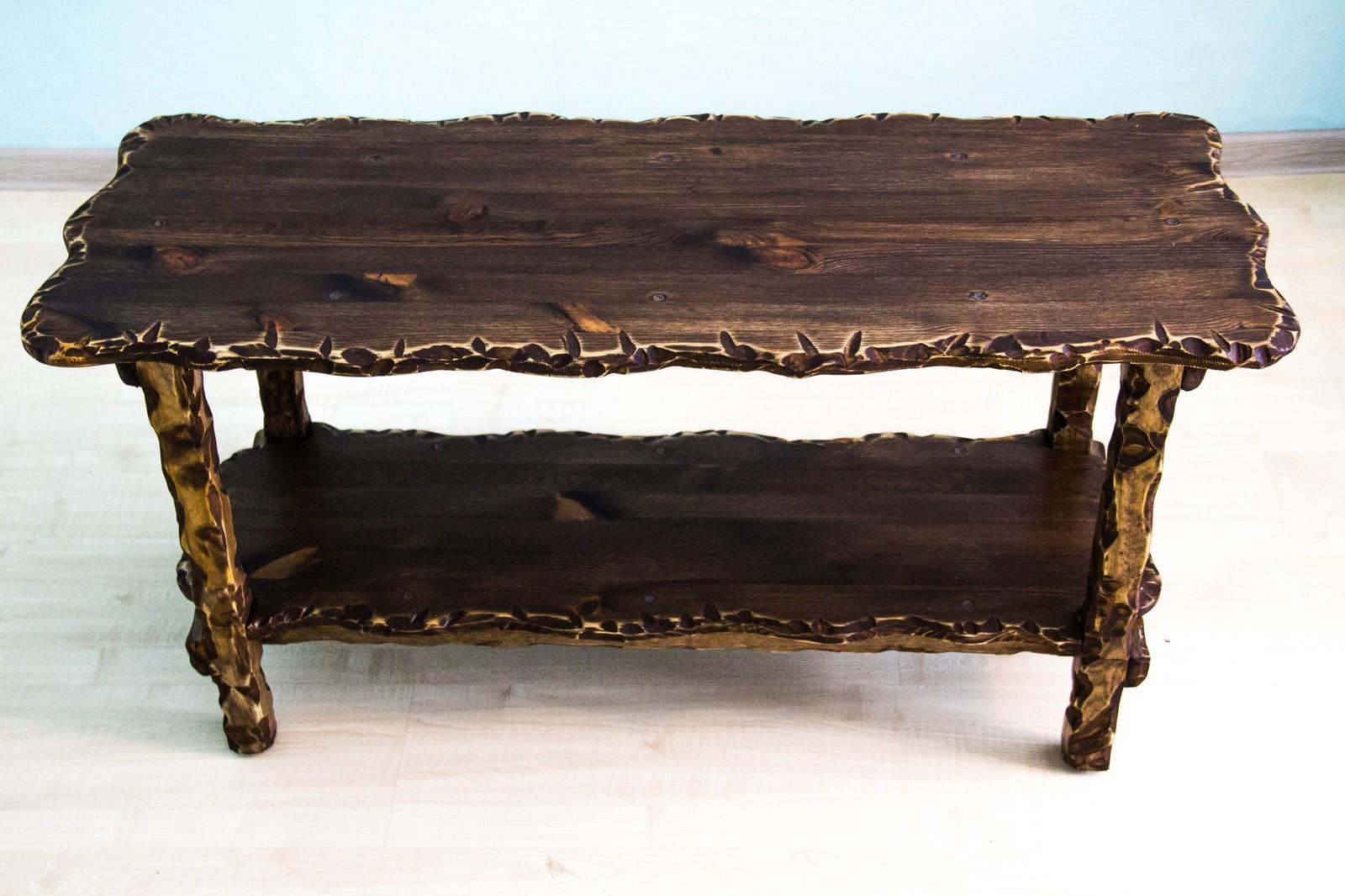 столик в стиле лофт под старину