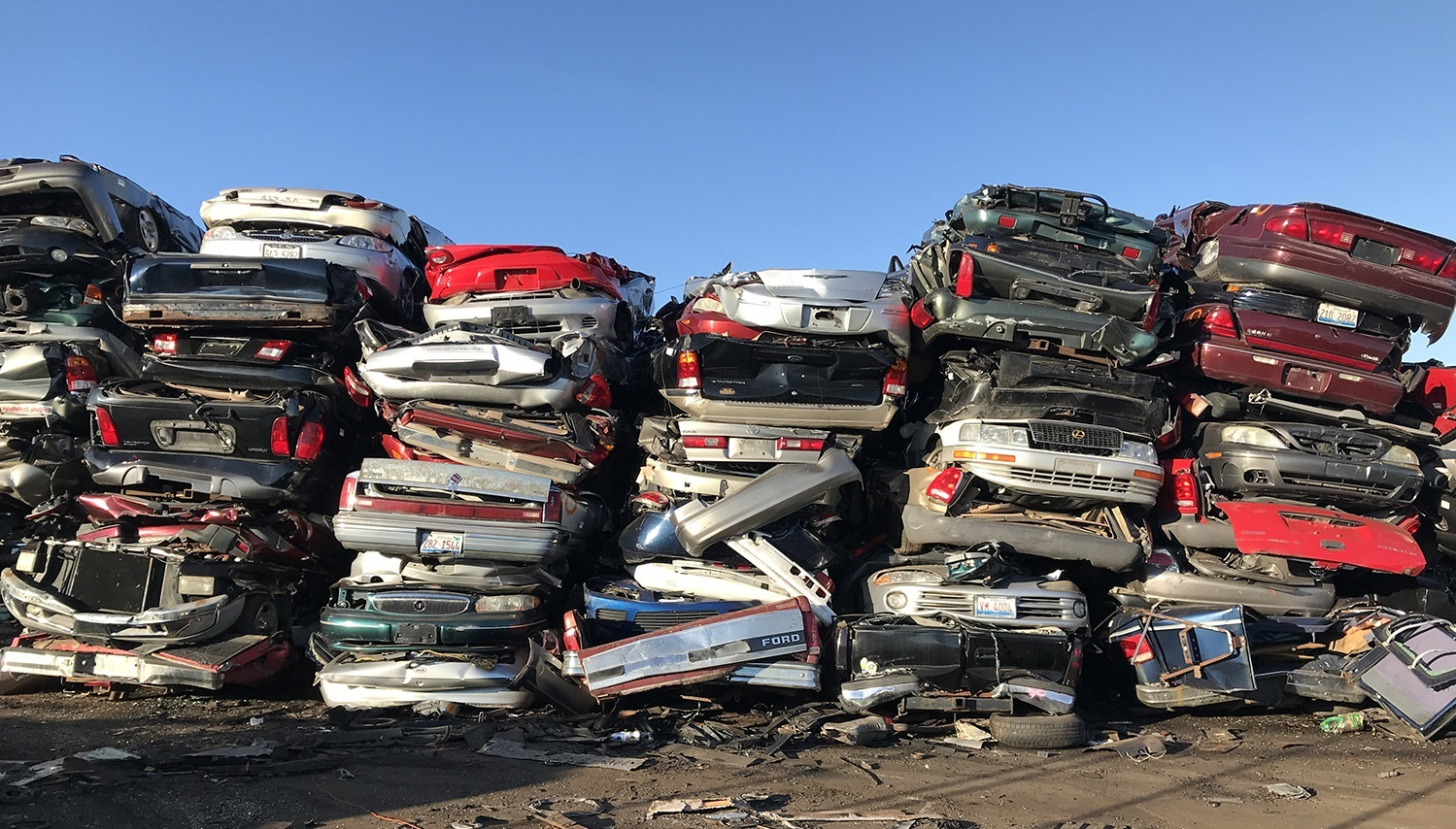 Американская автомобильная свалка   Пикабу