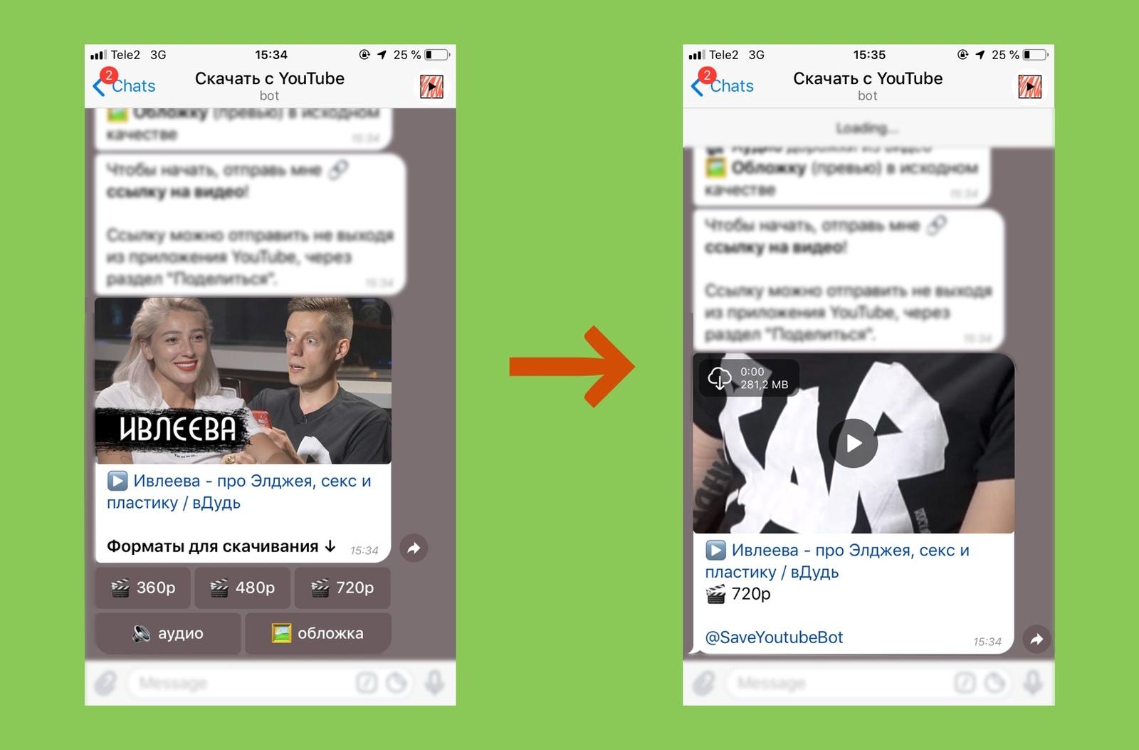 новый бот телеграм по скачиванию видео с Youtube