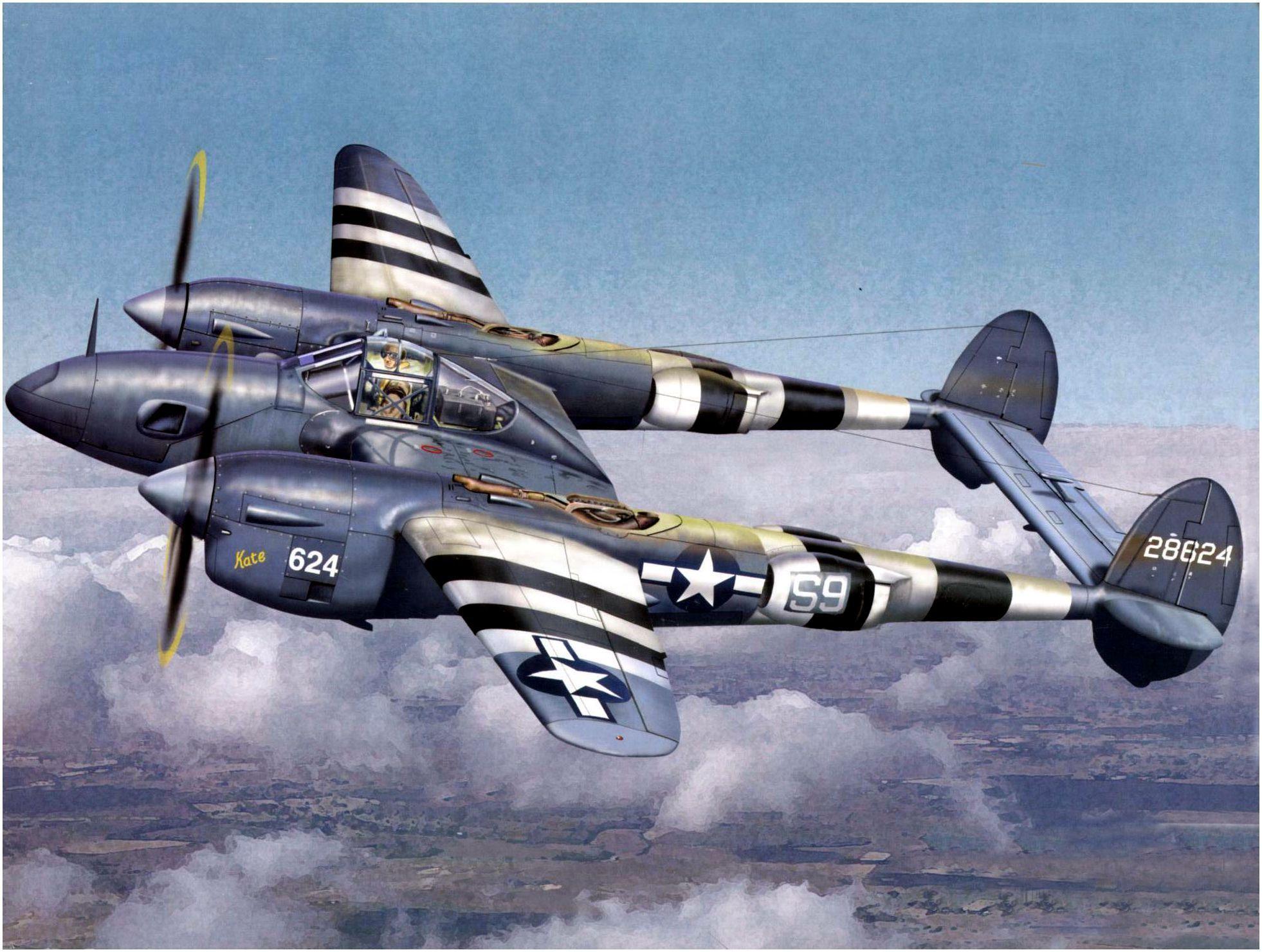 Обои локхид p-38, самолеты, американские. Авиация foto 19