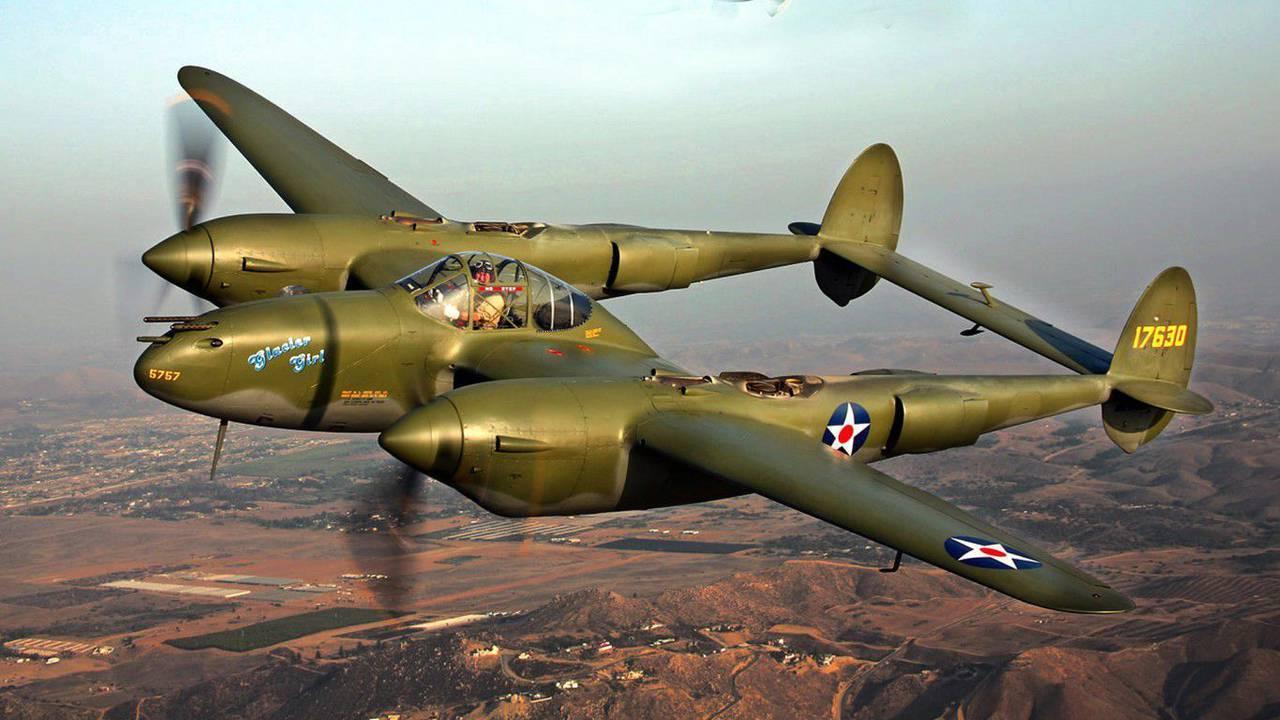 Обои локхид p-38, самолеты, американские. Авиация foto 14