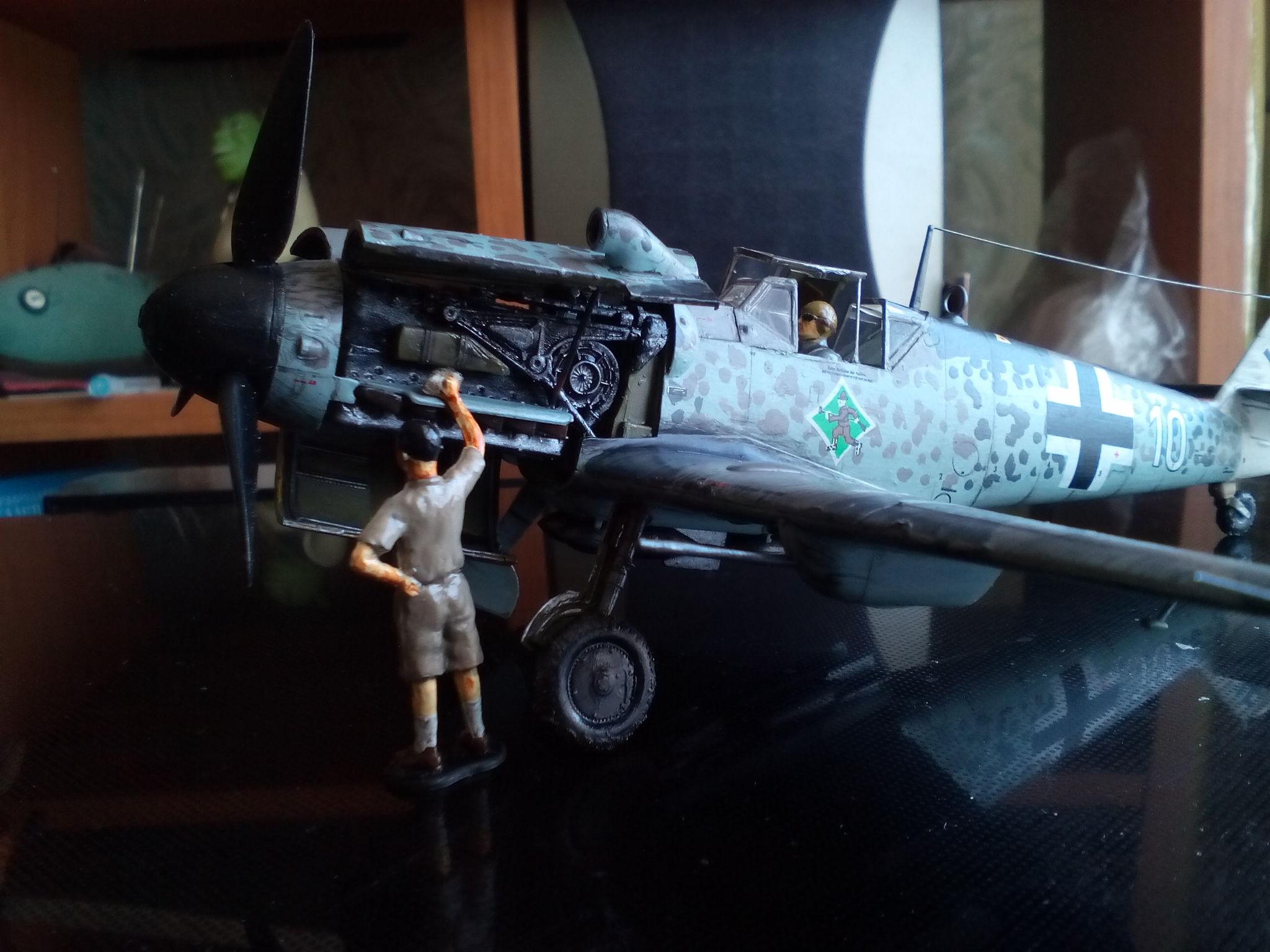 Обои Подвесной топливный бак, gustav, bf-109, мesserschmitt, б-17, Bf.109G-10, бомбардировщик. Авиация foto 8