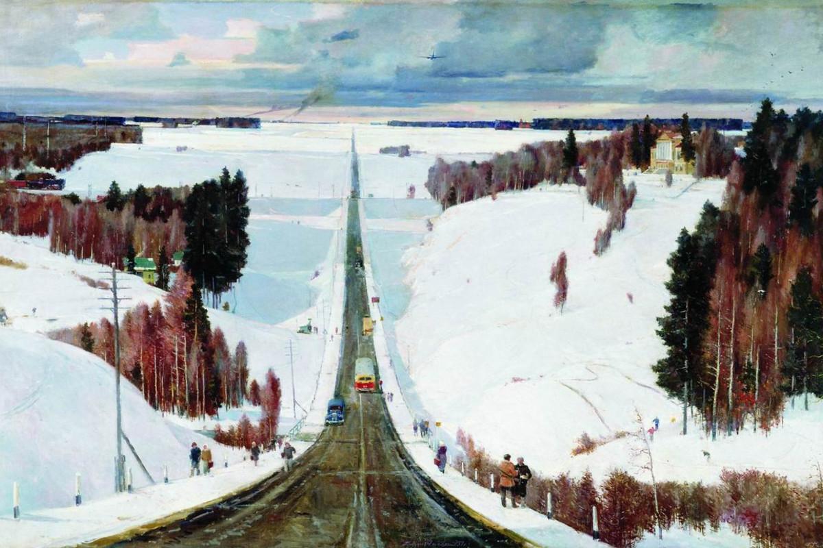 «Подмосковная зима», 1952 год. Георгий Нисский