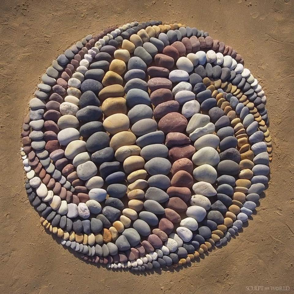 Обои пляж, камни, фигурка. Разное