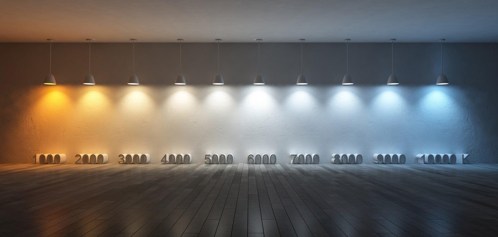 Сравнение ламп разных температур