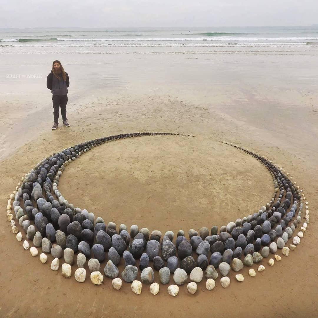 Обои пляж, камни, фигурка. Разное foto 11