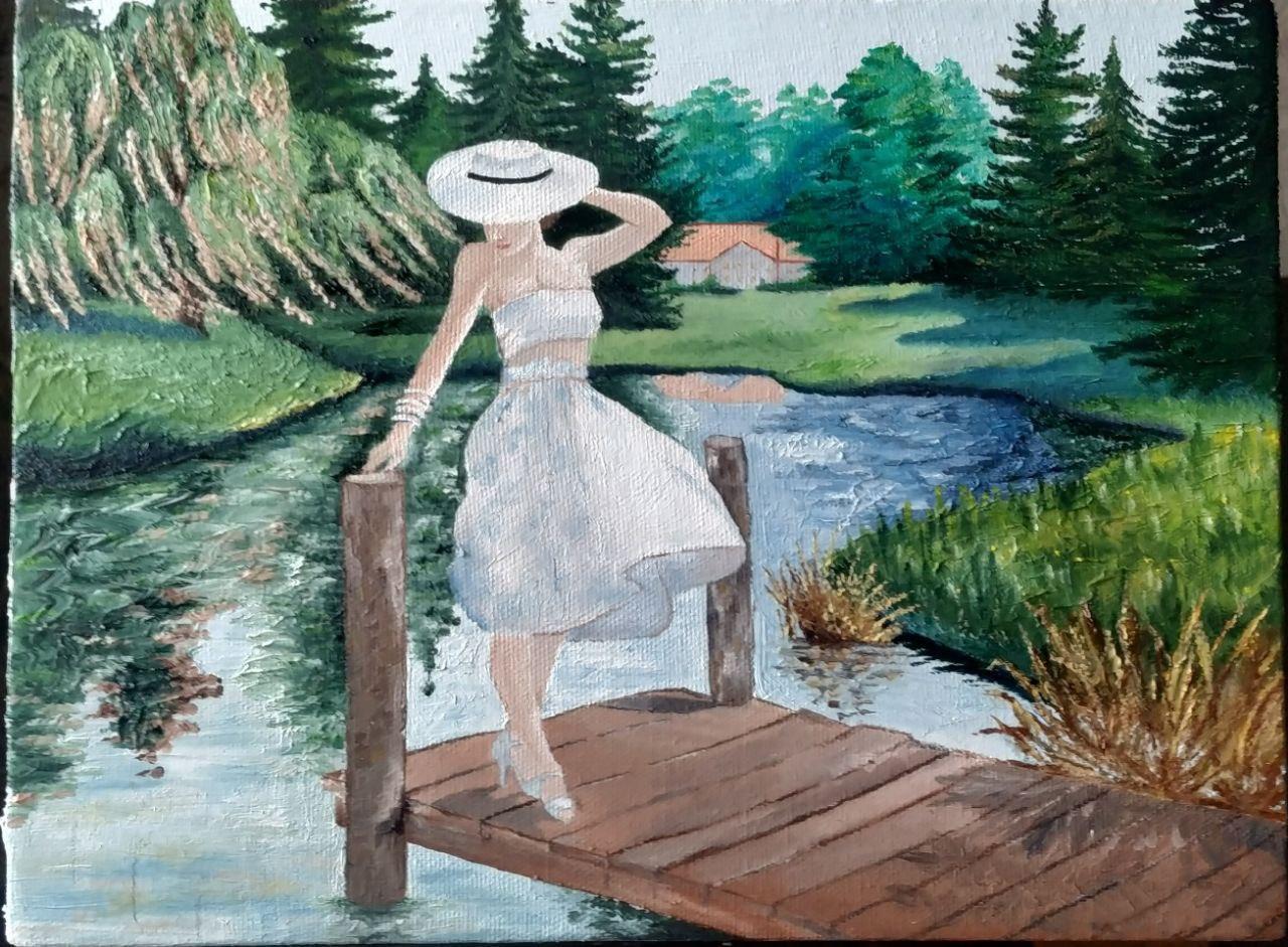Картина в жанре пин-ап. По мотивам работы художника-иллюстратора Артура Сарноффа (1912 - 2000) | Пикабу